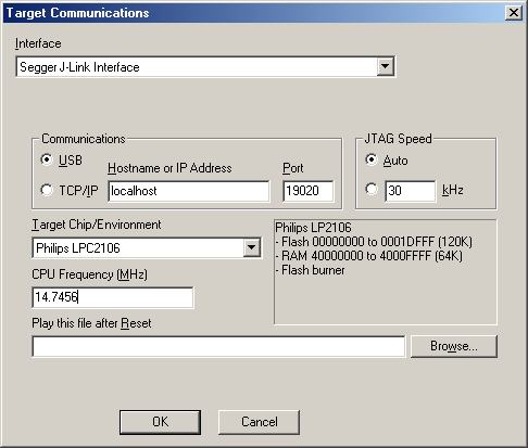 ARM: Connecting to Hardware Using Segger JLink